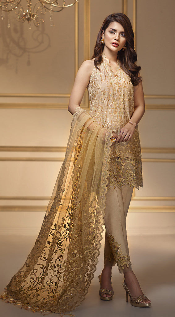 ff81bf9b5c Anaya by Kiran Chaudhry Luxury Festive Collection 2018 – Golden Harves –  YourLibaas