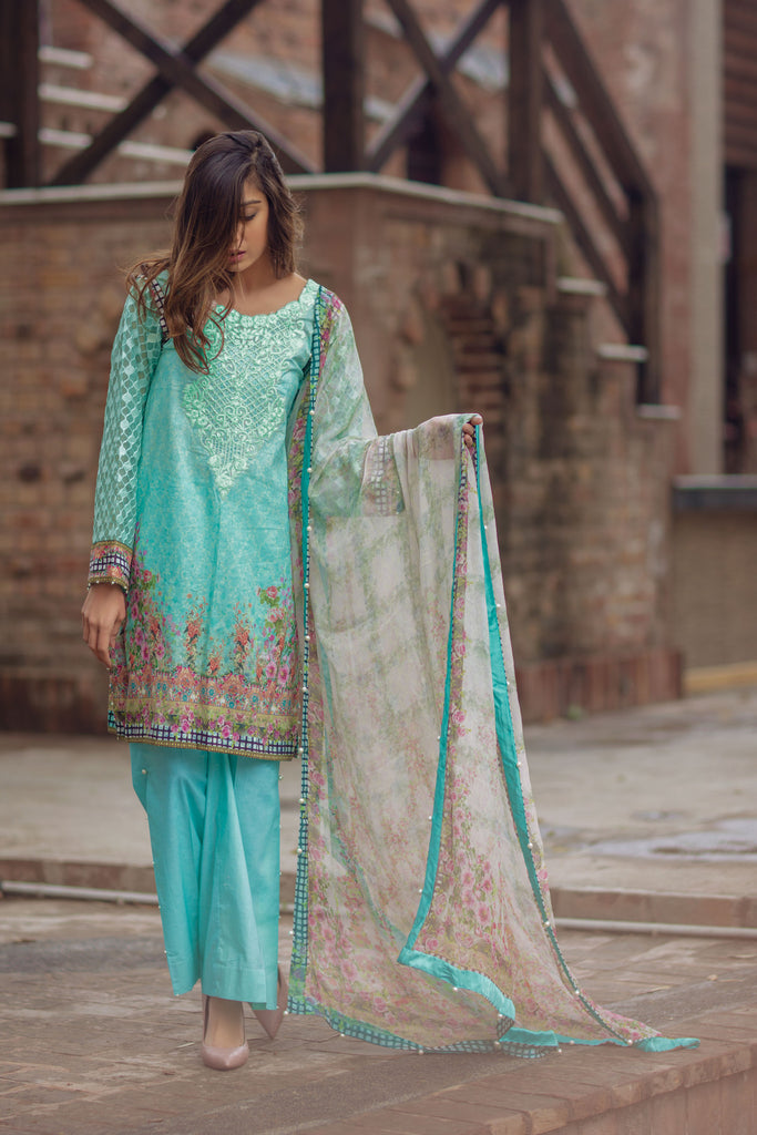 Noor by Saadia Asad - Spring/Summer Lawn Collection – Aqua Whiff