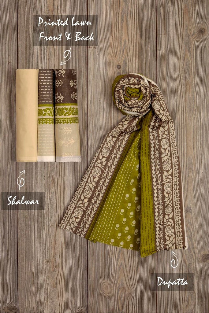 Khaadi Mid-Summer Vibes Lawn Collection 2018 – AR18310 Grey 3Pc