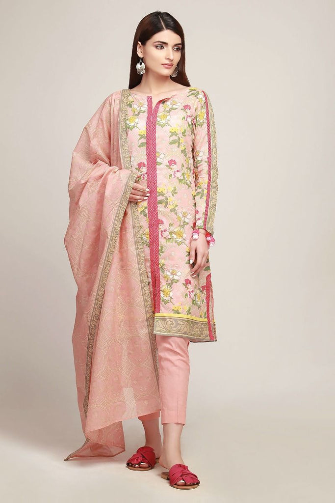 Khaadi Early Spring/Summer Lawn Collection 2019 – AR19105 Pink 3Pc