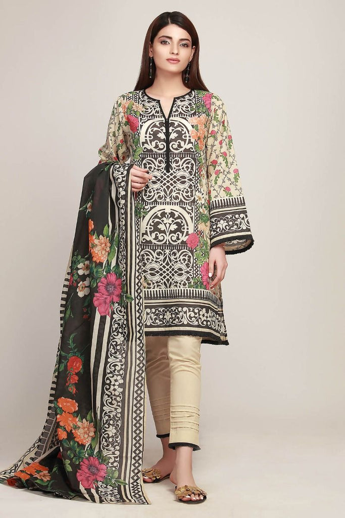 Khaadi Early Spring/Summer Lawn Collection 2019 – AR19106 Beige 3Pc