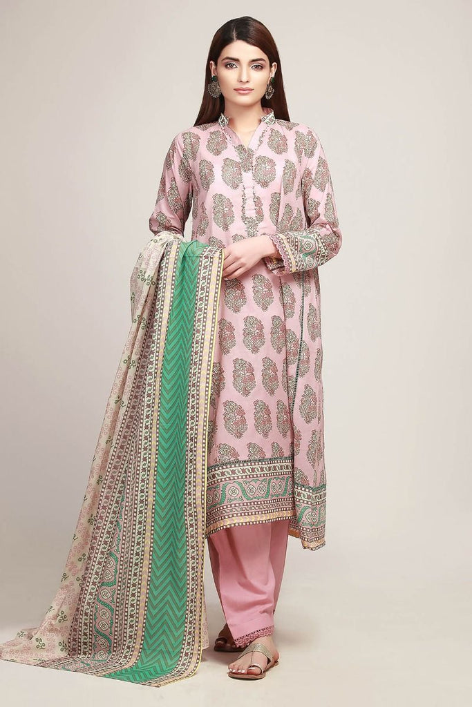 Khaadi Early Spring/Summer Lawn Collection 2019 V2 – AR19125 Pink 3Pc