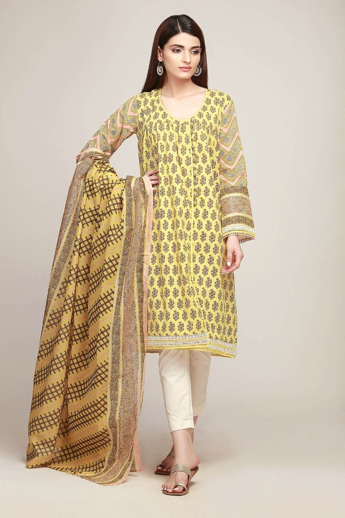 Khaadi Early Spring/Summer Lawn Collection 2019 V2 – AR19129 Yellow 3Pc