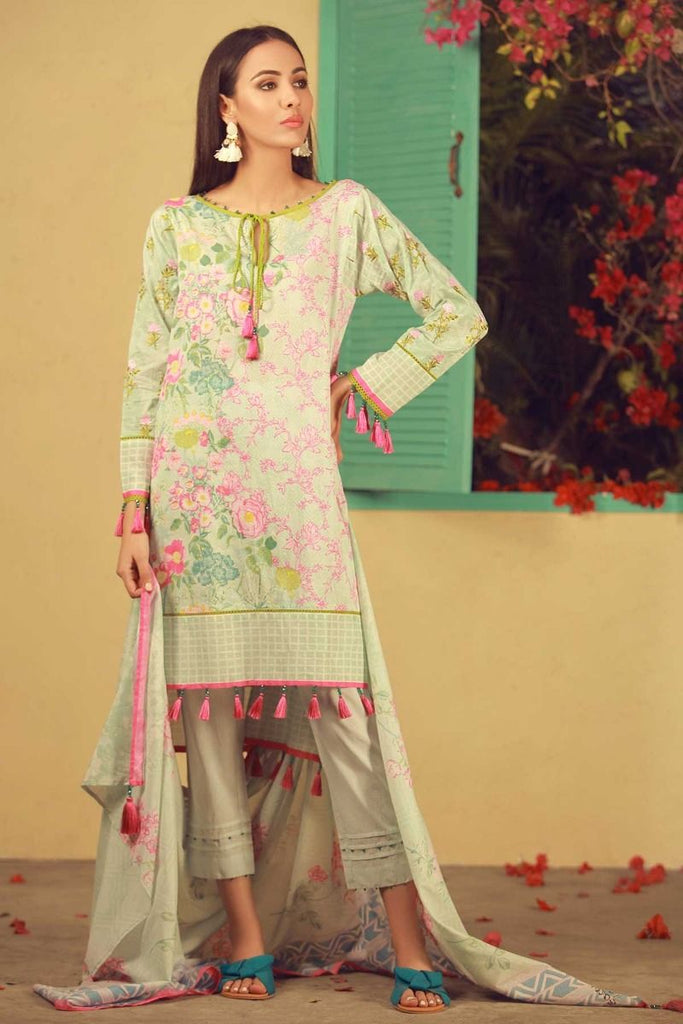 Khaadi Summer Lawn Collection 2018 Vol-2 – B18203 Green