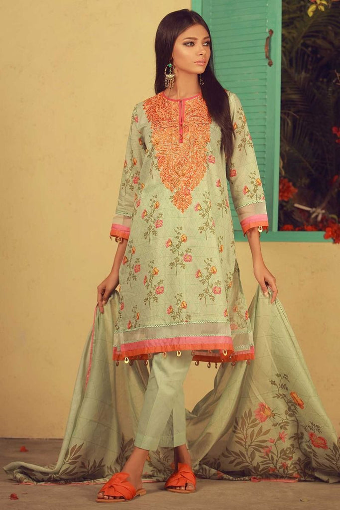 Khaadi Summer Lawn Collection 2018 Vol-2 – B18204 Green