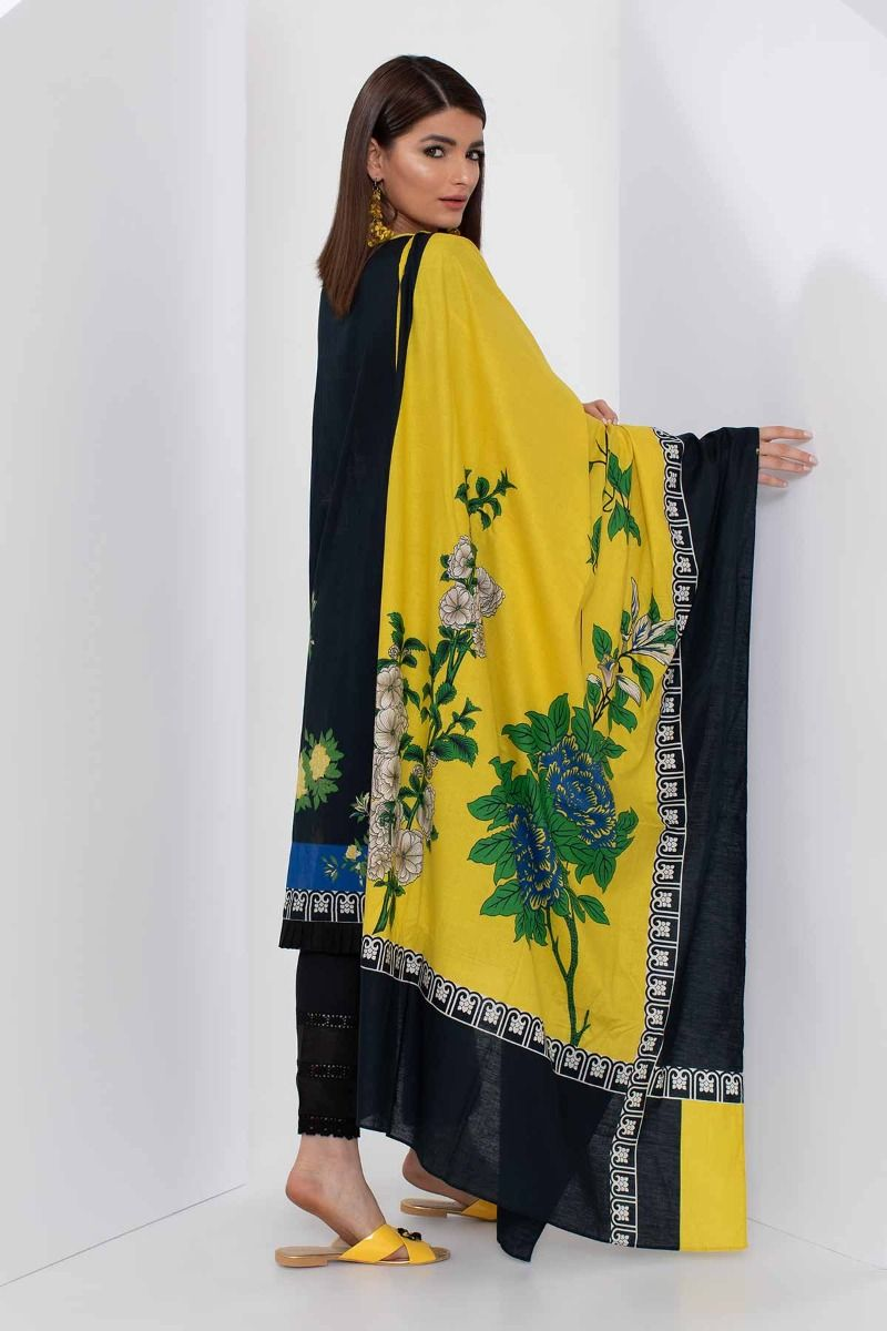 af97a69e09 Khaadi Mid Summer Lawn Collection 2018 – B18309 Blue 3Pc – YourLibaas