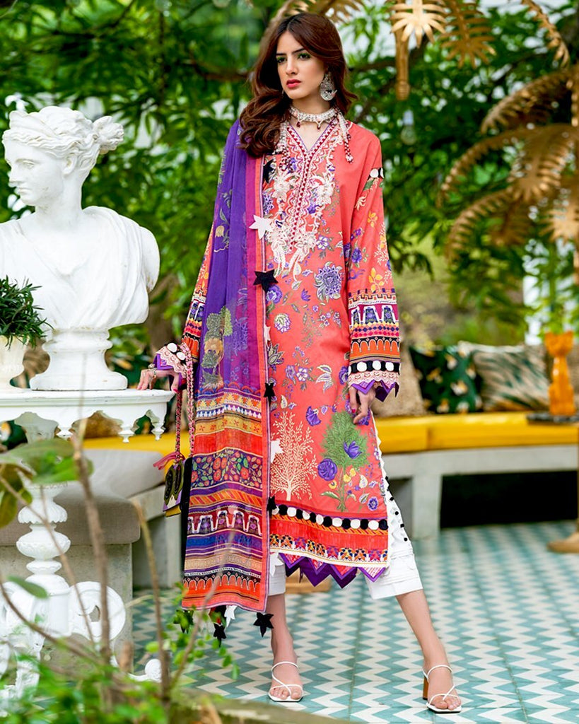 Zaha by Khadijah Shah – Spring/Summer Lawn Collection 2020 – ANAHI (ZL-11)