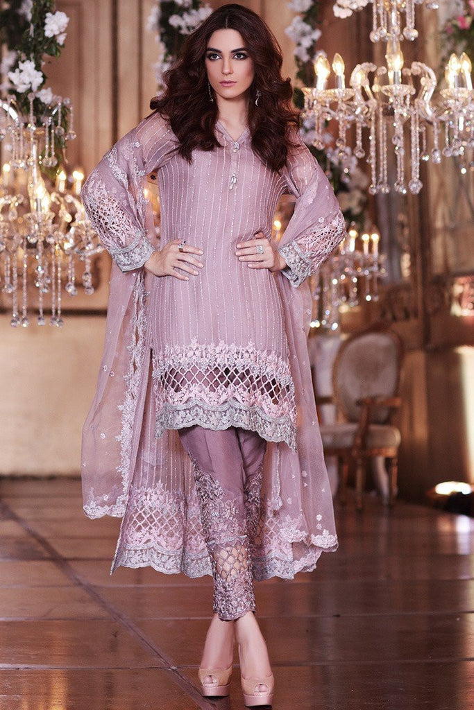 MARIA.B MBROIDERED Luxury Eid Collection 2017 – Ash Pink (BD-1004)