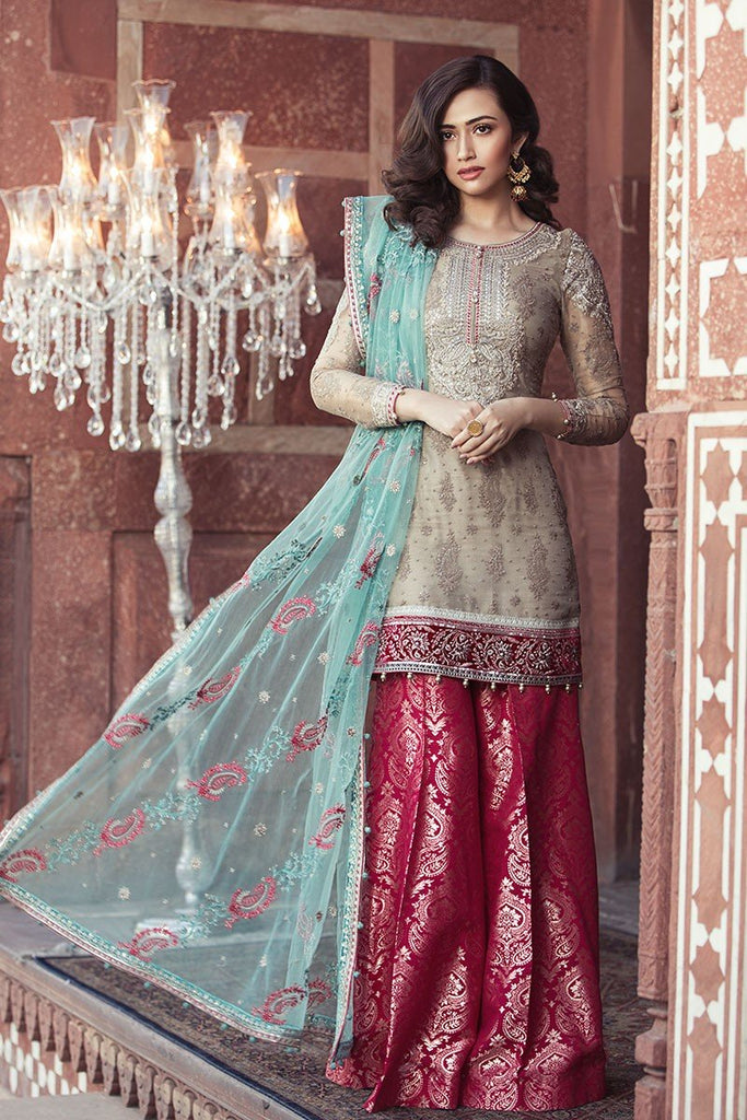 MARIA.B. MBROIDERED Luxury Eid Collection 2018 Vol-1 – Moonlight & Seagreen (BD-1301)