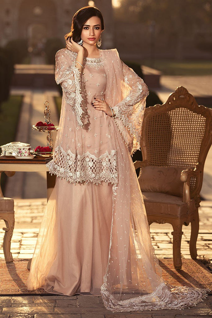 MARIA.B. MBROIDERED Luxury Eid Collection 2018 Vol-1 – Powder Peach (BD-1306)