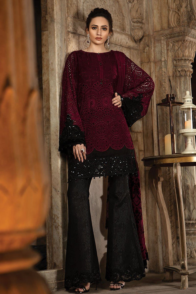 MARIA.B MBROIDERED Eid Collection 2018 Vol. 2 – Deep Ruby (BD-1408)