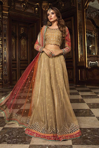 07430bfb6ed 55% OFF Sold Out MARIA.B. Mbroidered Wedding Edition 2018 – Gold   Coral (BD -1505