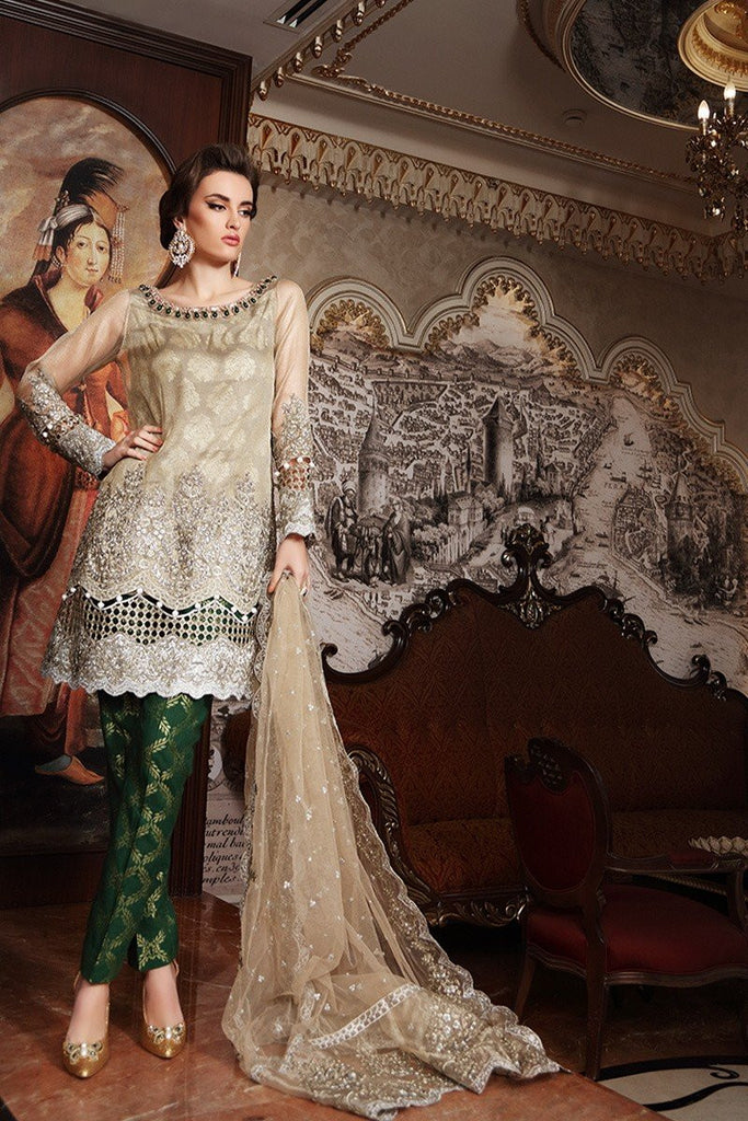MARIA.B. MBROIDERED Wedding Edition – Gold Green - BD-901 - YourLibaas  - 1