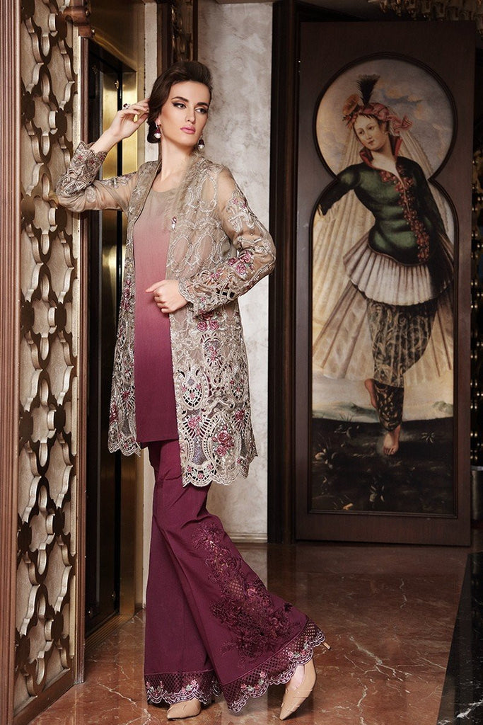 MARIA.B. MBROIDERED Wedding Edition – Coffee Plum - BD-904 - YourLibaas  - 1
