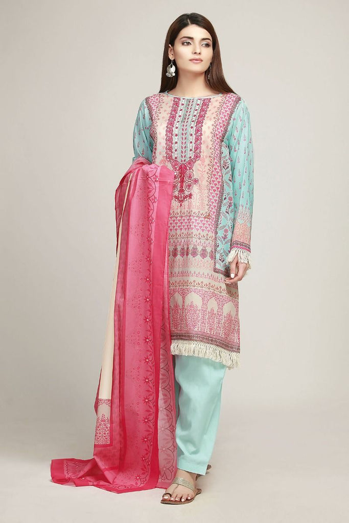 Khaadi Early Spring/Summer Lawn Collection 2019 – BF19103 Green 3Pc