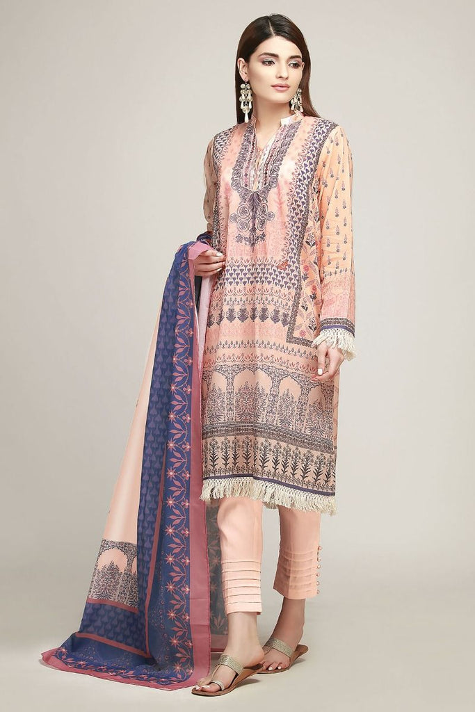 Khaadi Early Spring/Summer Lawn Collection 2019 – BF19103 Peach 3Pc
