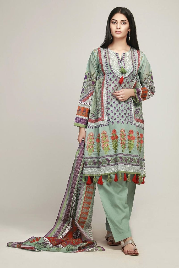 Khaadi Early Spring/Summer Lawn Collection 2019 – BF19107 Grey 3Pc