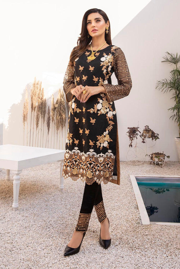 Azure Luxury Formal Kurtis 2021 – Blossoms