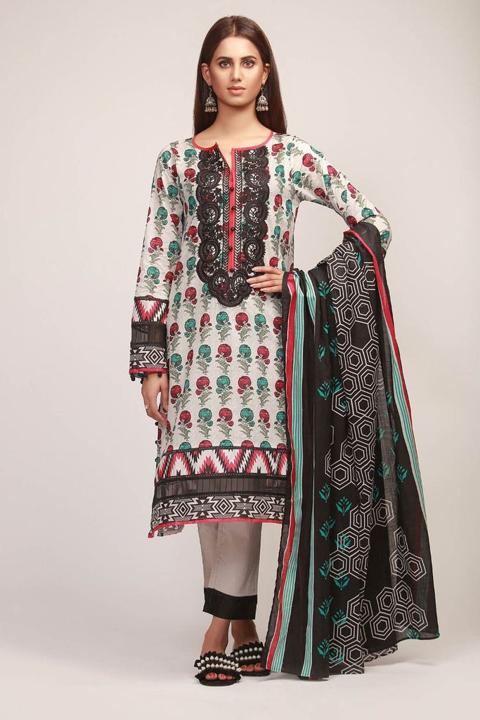 Khaadi Early Spring/Summer Lawn Collection 2019 V2 – BR19113 Black 3Pc