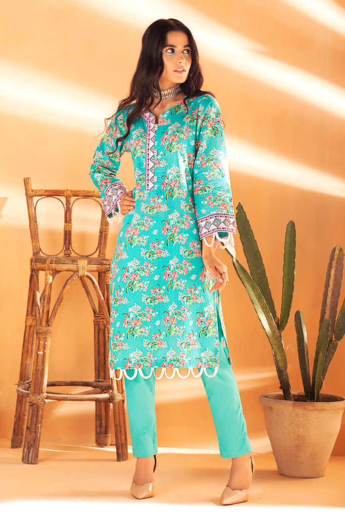 Gul Ahmed Summer Basic Lawn 2021 · 1PC Unstitched Digital Printed Lawn Shirt SL-933 A