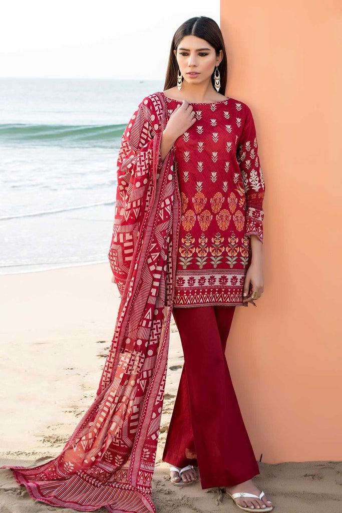 Khaadi Tropical Escape Lawn Collection 2018 – C18102 Red 3Pc