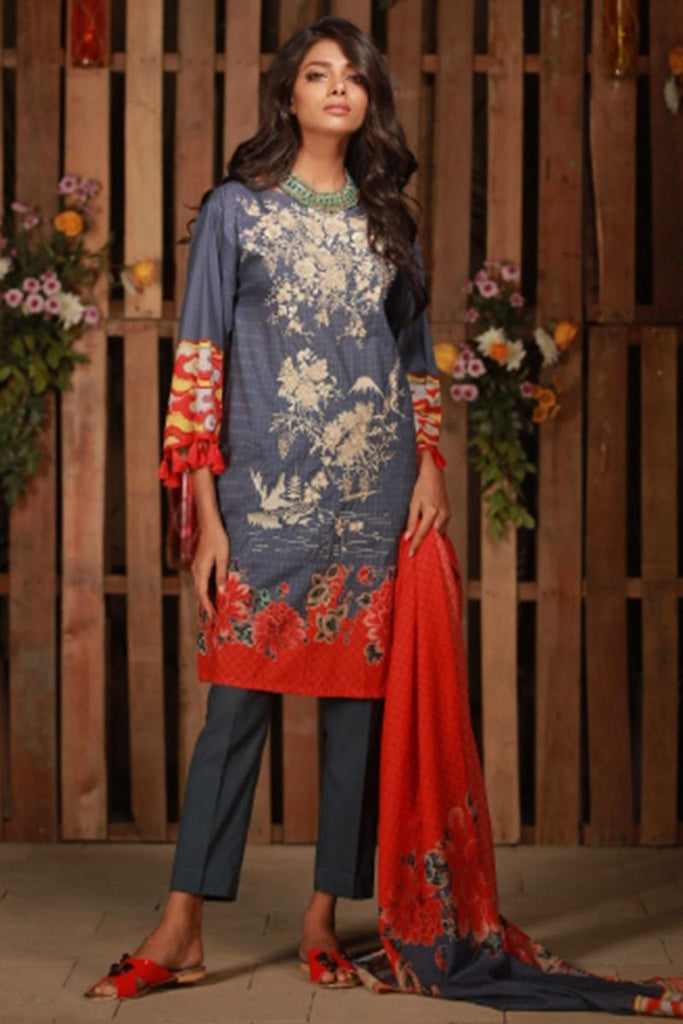 Khaadi Summer Lawn Collection 2018 Vol-2 – C18201 Blue