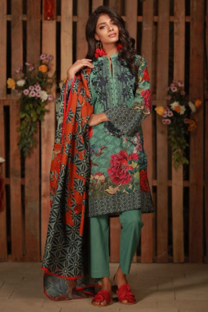 Khaadi Summer Lawn Collection 2018 Vol-2 – C18202 Green