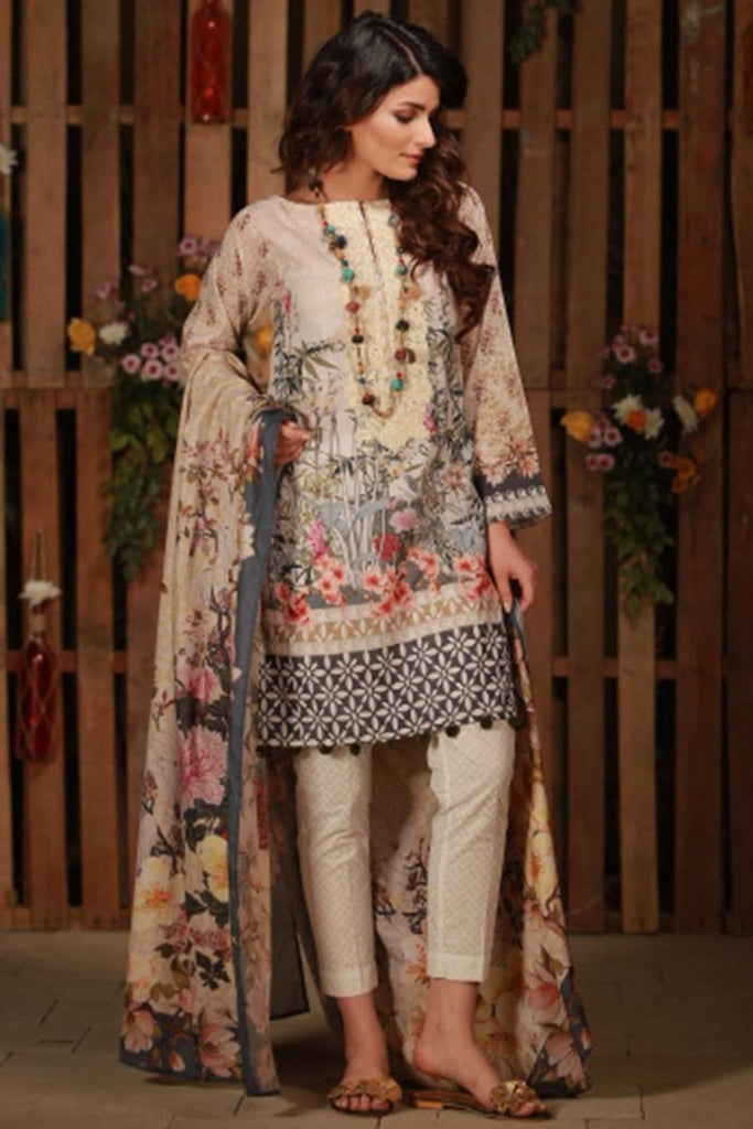 Khaadi Summer Lawn Collection 2018 Vol-2 – C18205 Off White
