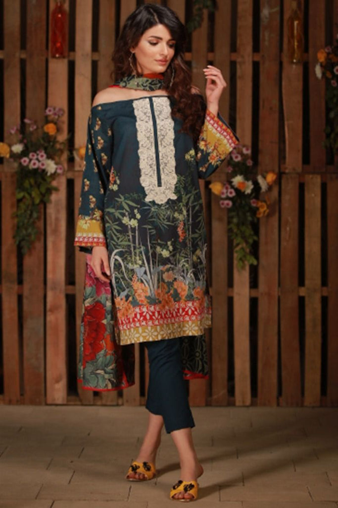 Khaadi Summer Lawn Collection 2018 Vol-2 – C18205 Blue