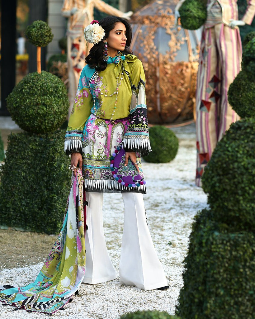 Zaha's Wonderland Spring/Summer Lawn Collection 2019 – 03A -Lyssa
