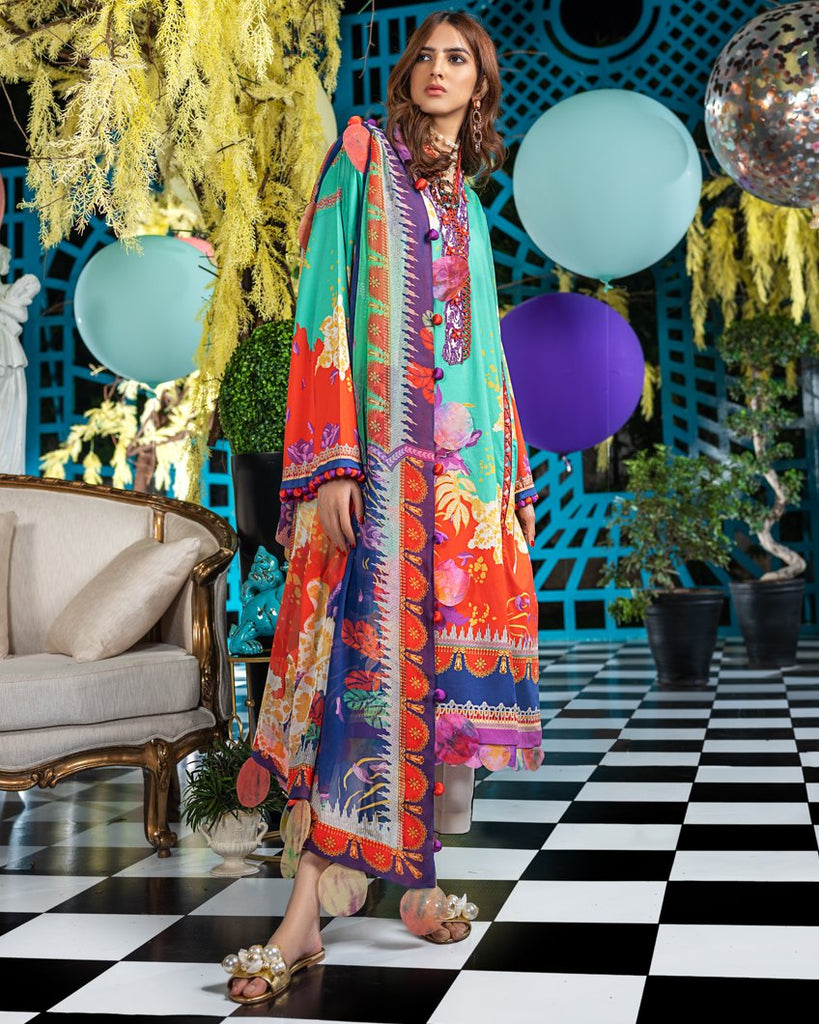 Zaha by Khadijah Shah – Spring/Summer Lawn Collection 2020 – REANNA (ZL-19)