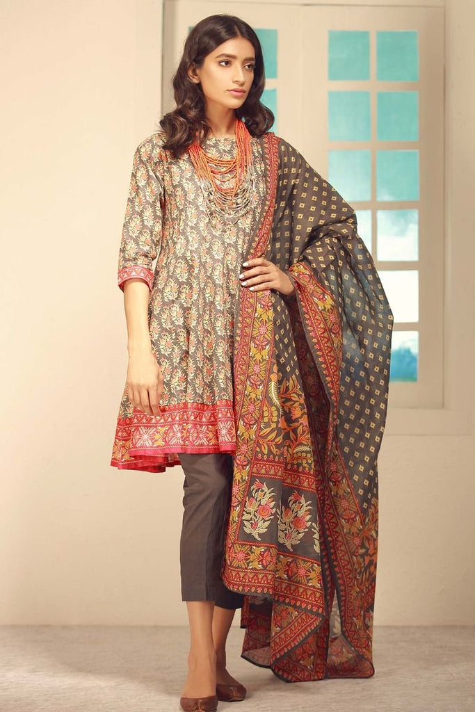 Khaadi Winter Tales Vol-2 – CA17704-Grey-3Pc