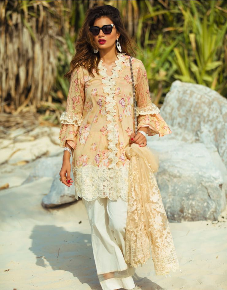 Rang Rasiya Carnation Lawn Collection 2018 – 1011 A