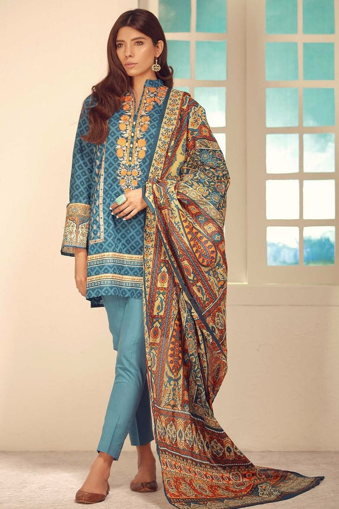 Khaadi Winter Tales Vol-2 – CB17702-Blue-3Pc