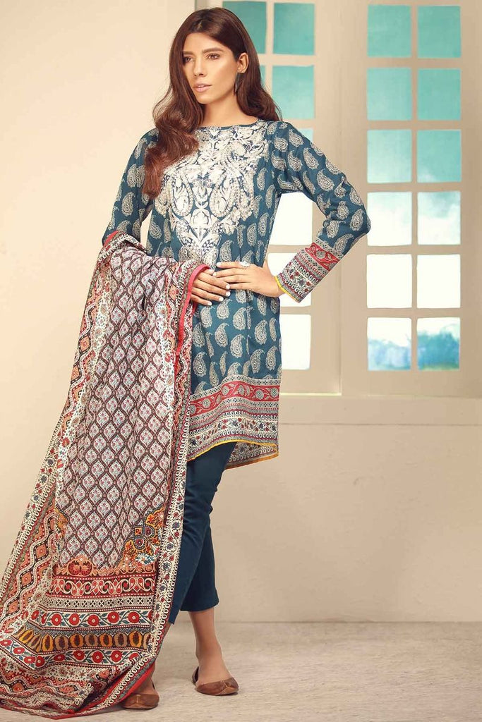Khaadi Winter Tales Vol-2 – CB17703-Blue-3Pc