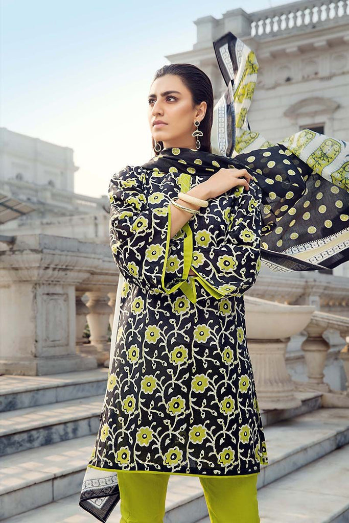 Gul Ahmed Summer Essential Collection 2018 – Black 3 Pc Printed Lawn CL-350 A