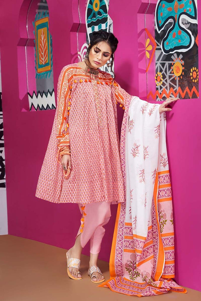 Gul Ahmed Summer Essential Collection 2018 – Pink 3 Pc Printed Lawn CL-353 A
