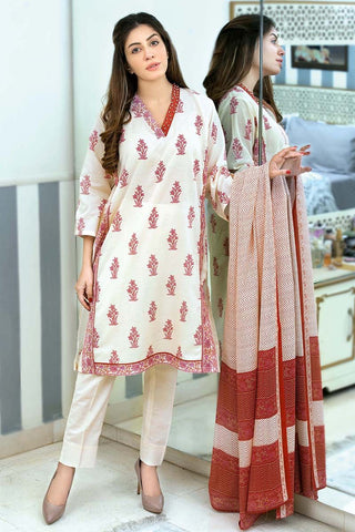 eba48e63d3 12% OFF Sold Out Gul Ahmed Summer Essential Collection 2018 – Burgundy 3 Pc  Printed Lawn CL-355 B