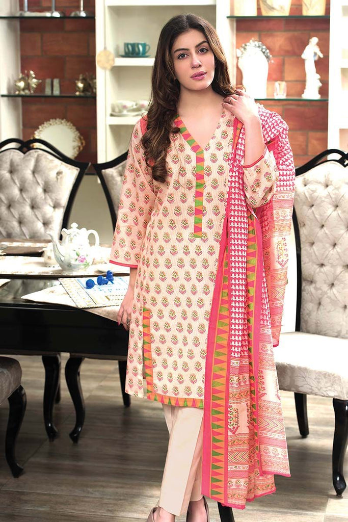 Gul Ahmed Summer Essential Collection 2018 – Pink 3 Pc Printed Lawn CL-365 B
