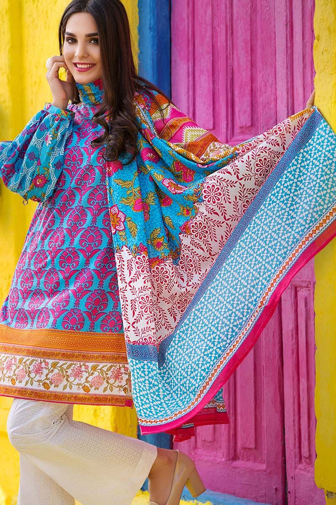 Gul Ahmed Summer Essential Collection 2018 – Blue 3 Pc Printed Lawn CL-373 A