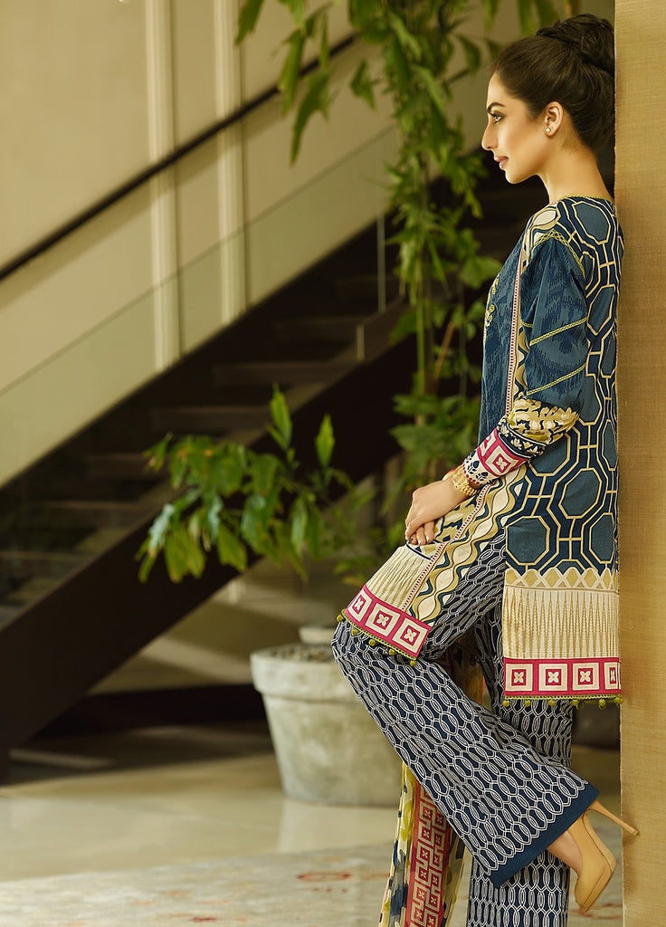 Crescent Lawn Spring/Summer Collection 2016 by Faraz Manan – CL05 - YourLibaas  - 1