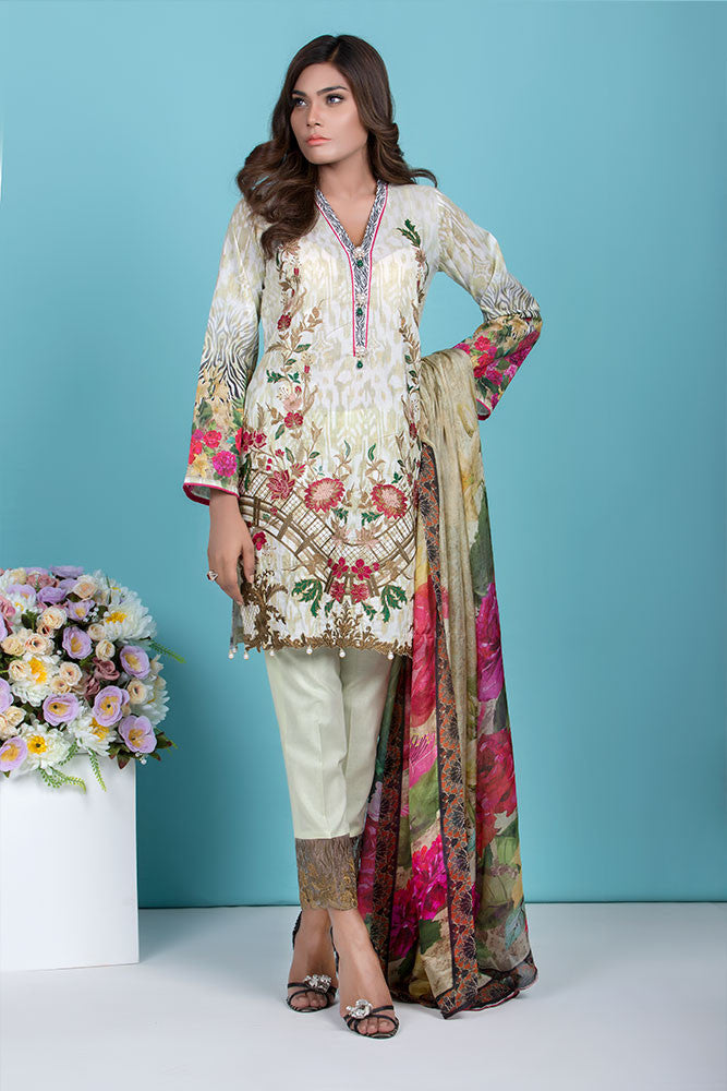 Baroque Summer Lawn Eid Collection 2016 – Paradise Blossom - YourLibaas  - 1