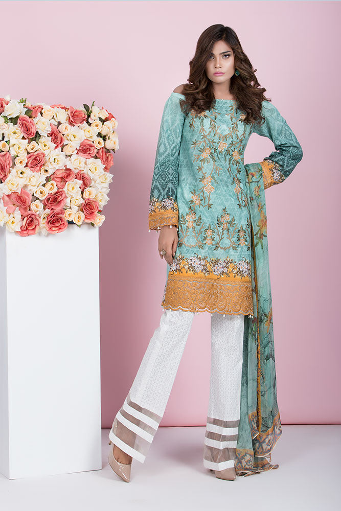 Baroque Summer Lawn Eid Collection 2016 – Beau Ideal - YourLibaas  - 1