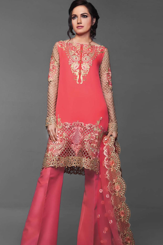 Anaya Festive Chiffon Collection – Coral Dreams - YourLibaas  - 1
