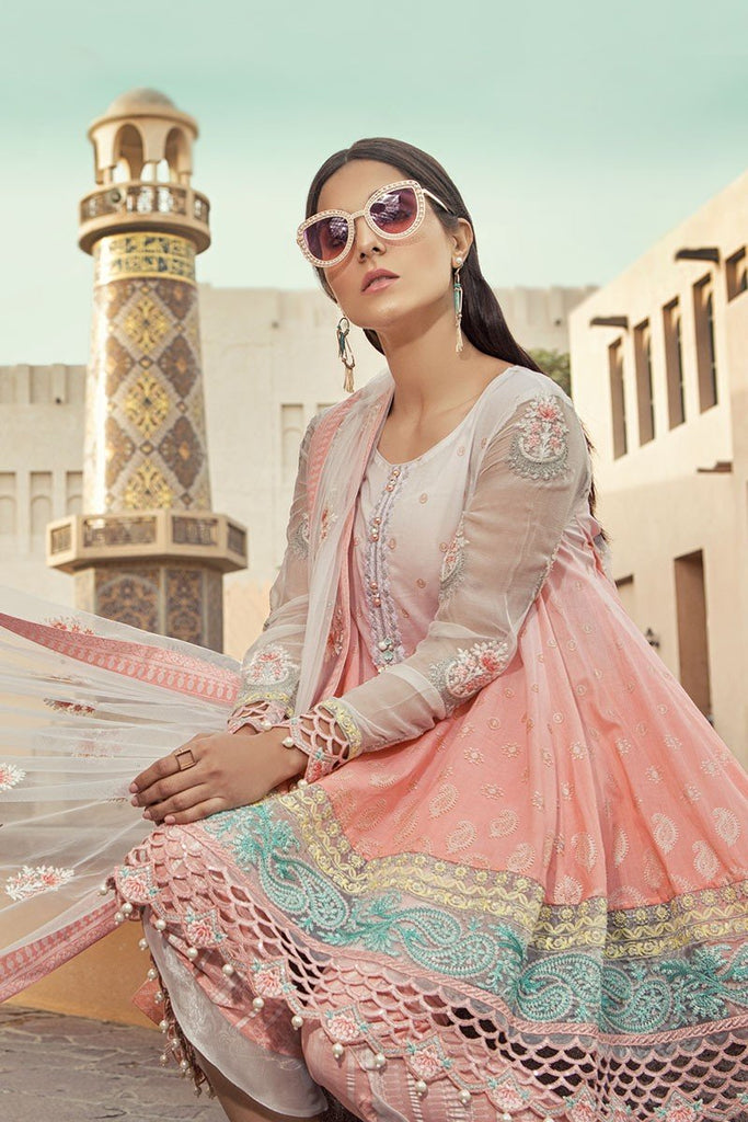 MARIA.B. Voyage Á Luxe Spring/Summer Lawn Collection 2018 – 1801-A