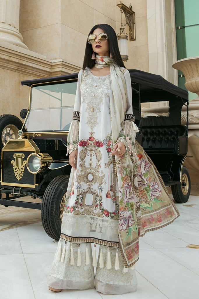 MARIA.B. Voyage Á Luxe Spring/Summer Lawn Collection 2018 – 1809-A