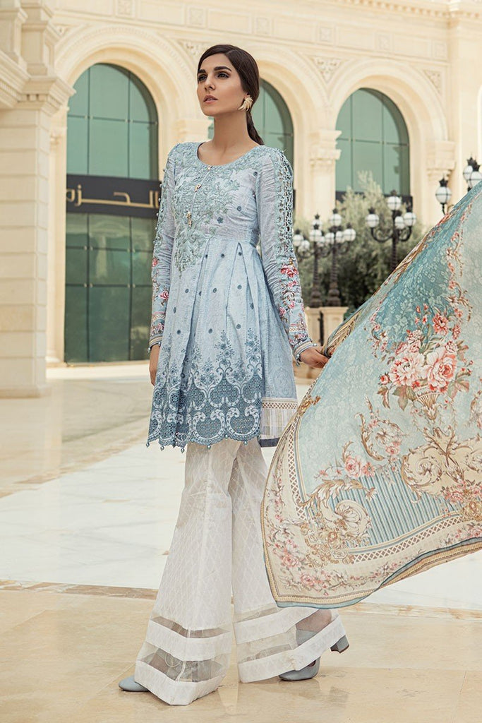 MARIA.B. Voyage Á Luxe Spring/Summer Lawn Collection 2018 – 1810-A