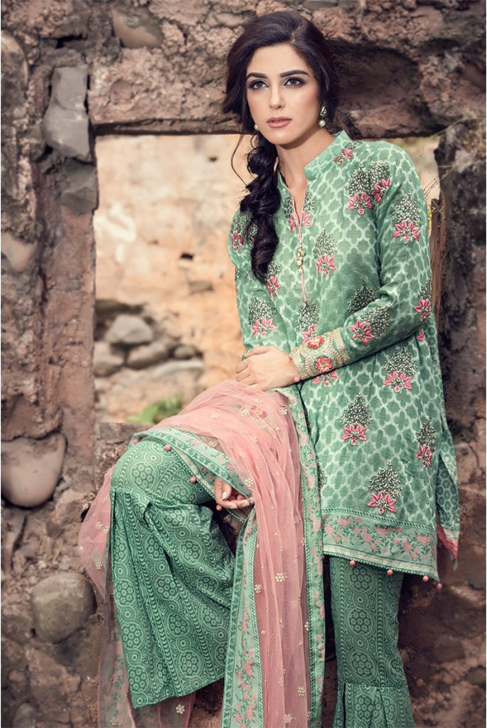 MARIA.B EID Lawn Collection '16 – Sea Green D-302 - YourLibaas