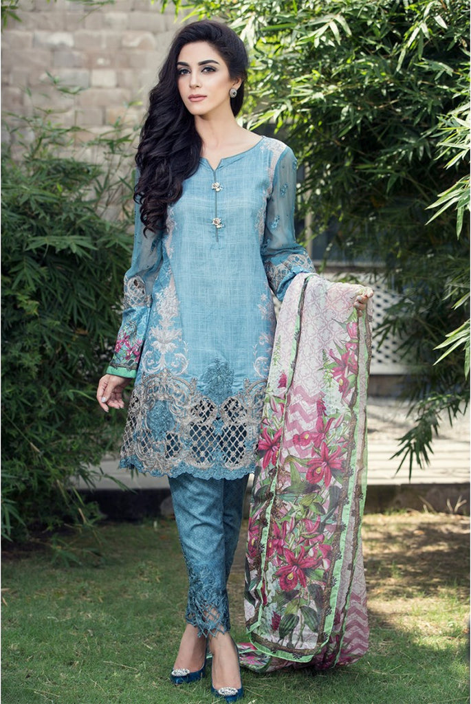 MARIA.B EID Lawn Collection '16 – Blue D-304 - YourLibaas
