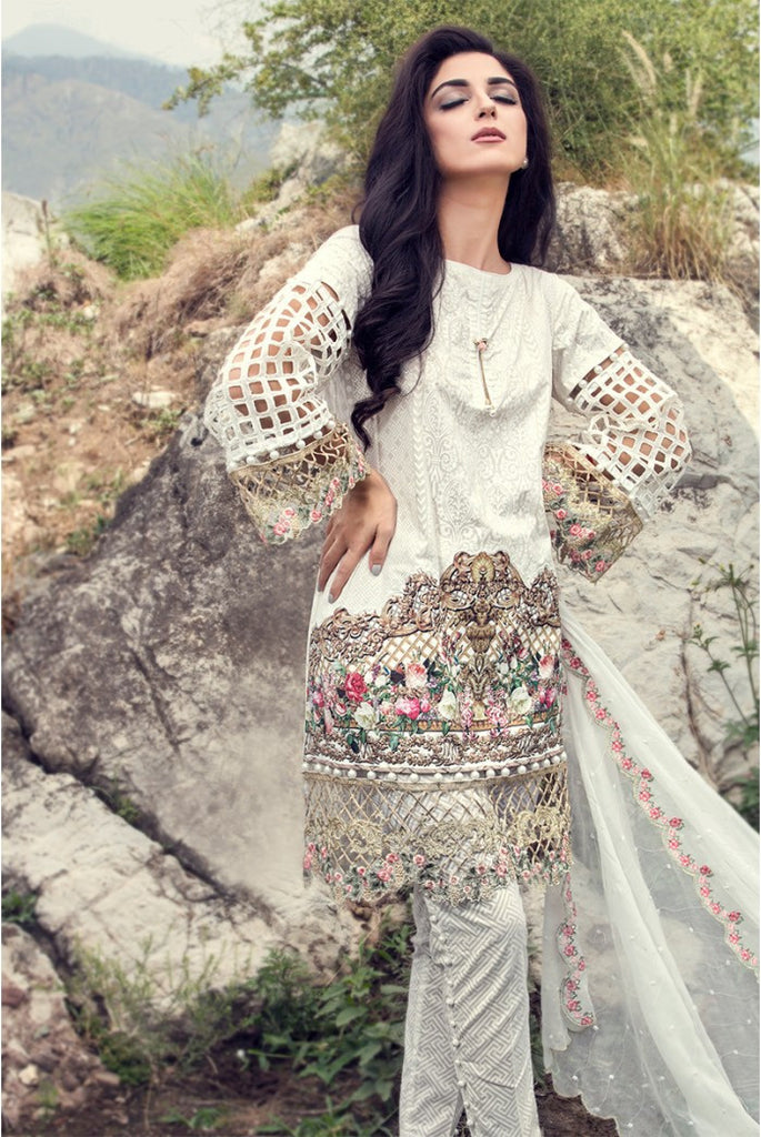 MARIA.B EID Lawn Collection '16 – White D-305 - YourLibaas